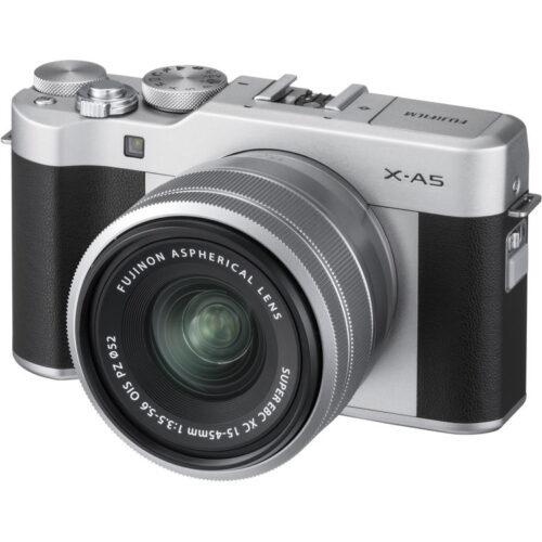 Fujifilm X-A5 váz + Fujinon XC 15-45mm objektív ezüst 1