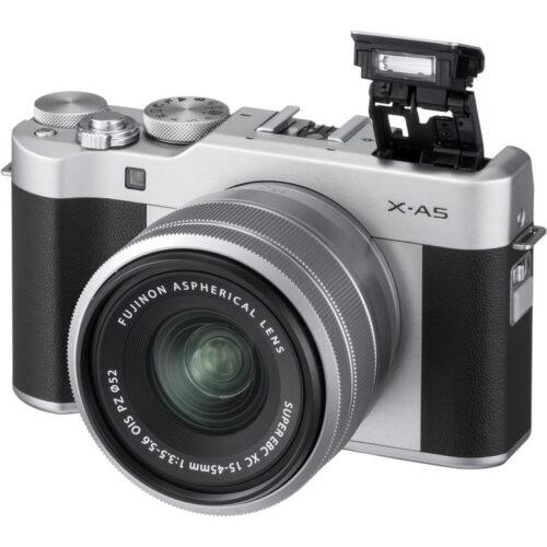 Fujifilm X-A5 váz + Fujinon XC 15-45mm objektív ezüst 4
