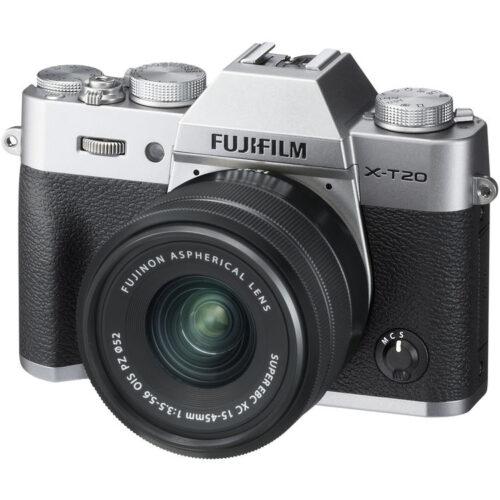 Fujifilm X-T20 váz + Fujinon XC 15-45mm objektív ezüst 1