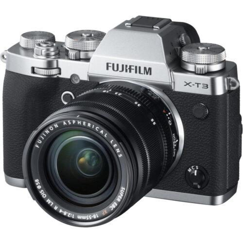 Fujifilm X-T3 ezüst váz + Fujinon XF 18-55mm objektív 1